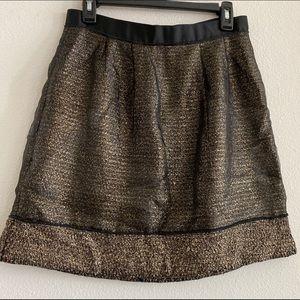 Loft Metallic With Black Overlay Skirt